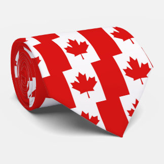 The Maple Leaf flag of Canada Tie