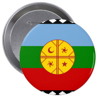the Mapuches, Chile 10 Cm Round Badge