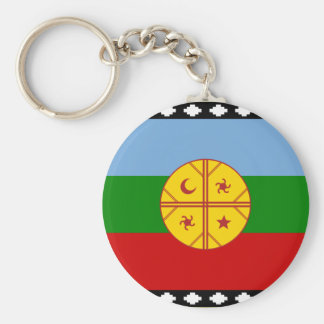 the Mapuches, Chile Basic Round Button Key Ring