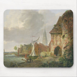The March Gate in Buxtehude, 1830 Mouse Mat
