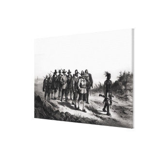 The March of Miles Standish Stretched Canvas Print