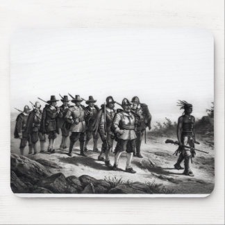 The March of Miles Standish Mouse Mat