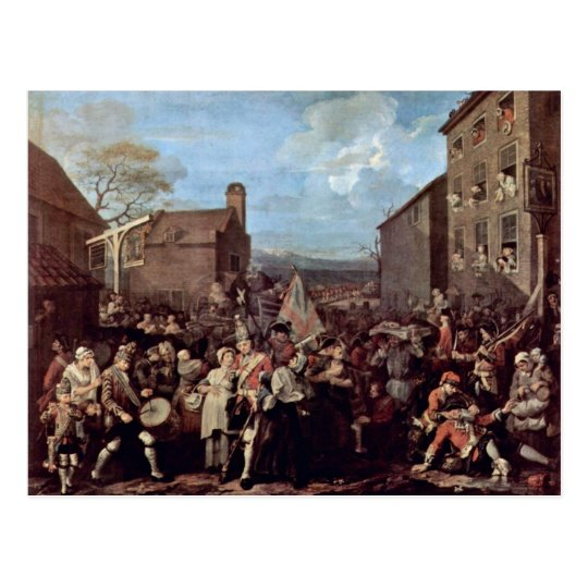 The March Of The Guards To Finchley By Hogarth Postcard
