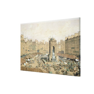 The Marche aux Innocents Stretched Canvas Prints