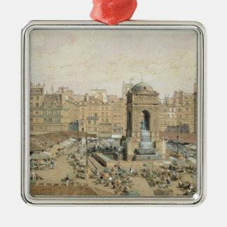 The Marche aux Innocents Silver-Colored Square Decoration