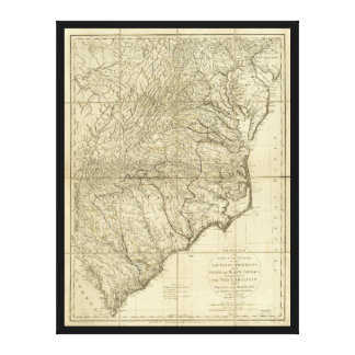 The Marches of Lord Cornwallis Map (1787) Canvas Print