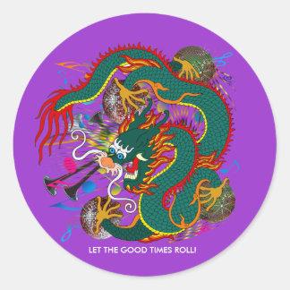 The-Mardi Gras Dragon V-2 Round Sticker