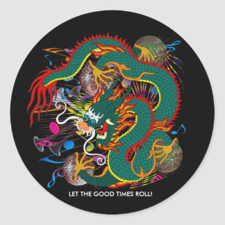 The-Mardi Gras Dragon V-2 Round Sticker