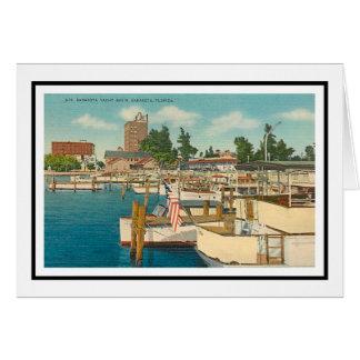 The Marina Sarasota, Florida Greeting Card