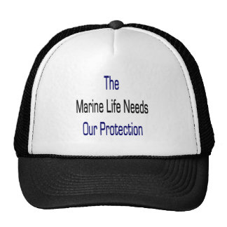 The Marine Life Needs Our Protection Mesh Hats
