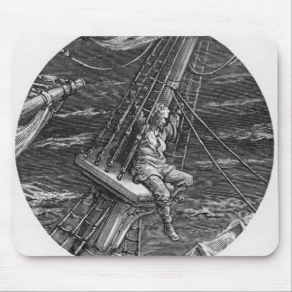 The Mariner aloft in the poop of the ship Mouse Mat