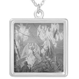 The mariner sees the band of angelic spirits silver plated necklace