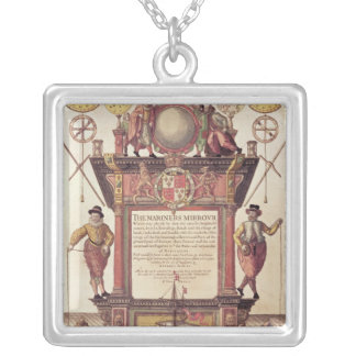 The Mariners Mirror, titlepage Silver Plated Necklace