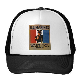 The Marines Want You Trucker Hat