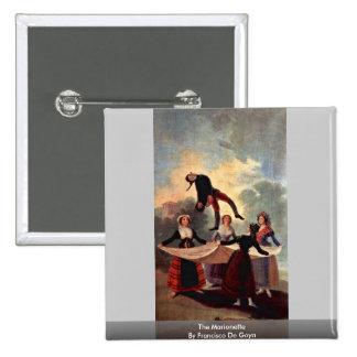 The Marionette By Francisco De Goya 15 Cm Square Badge