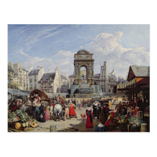The Market and Fountain of the Innocents Postcard