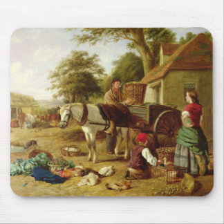 The Market Cart, 1864 (oil on canvas) Mouse Mat