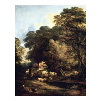 The Market Carts By Thomas Gainsborough Flyer