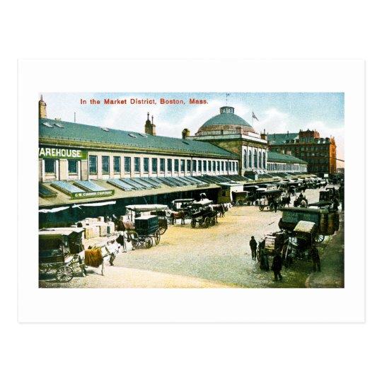 The Market District, Boston, Massachusetts Postcard