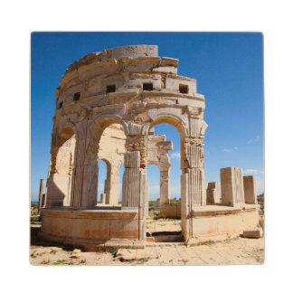The Market, Leptis Magna, Al Khums District Wood Coaster