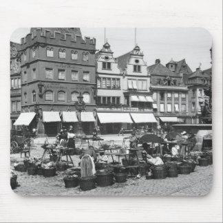 The Market Place at Trier, c.1910 Mouse Mat