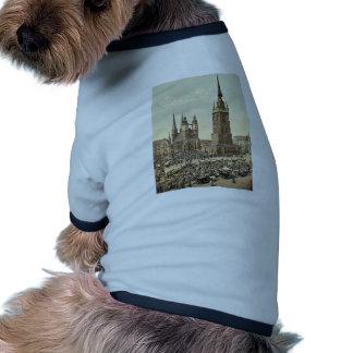 The market place, Halle, German Saxony, Germany ma Ringer Dog Shirt