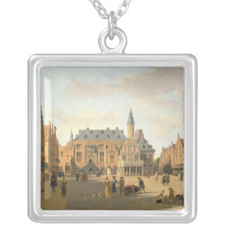 The Market Place with the Raadhuis Silver Plated Necklace