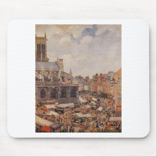 The Market Surrounding the Church of Saint-Jacques Mouse Pad