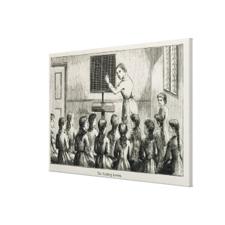 'The Marking Lesson', illustration from 'A Manual Canvas Print