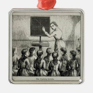 'The Marking Lesson', illustration from 'A Manual Silver-Colored Square Decoration