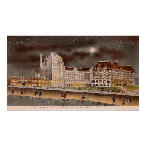 The Marlborough-Blenheim Hotel at Night Print