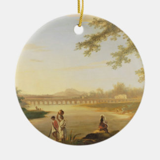 The Marmalong Bridge, with a Sepoy and Natives in Christmas Ornament