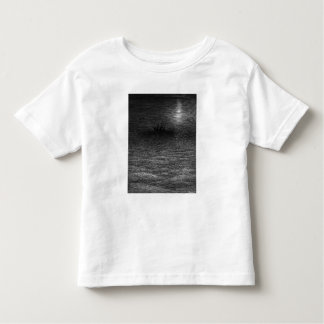 The marooned ship in a moonlit sea toddler T-Shirt