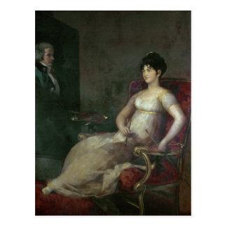 The Marquesa de Villafranca Painting her Husband Postcard