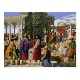 The Marriage at Cana, 1819 Postcard