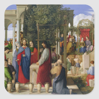 The Marriage at Cana, 1819 Square Sticker
