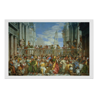 The Marriage Feast at Cana, c.1562 (oil on canvas) Poster