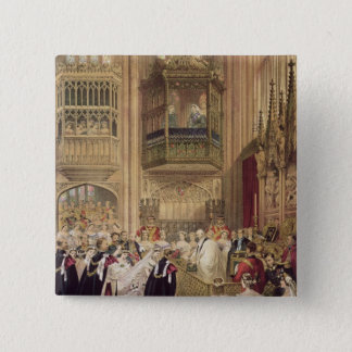 The Marriage of Edward VII 15 Cm Square Badge