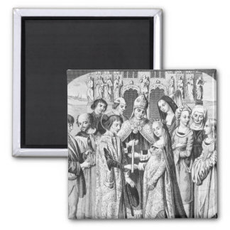 The Marriage of Henry VI and Margaret of Anjou Refrigerator Magnet