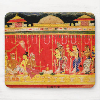 The Marriage of Krishna's Parents, from a disperse Mouse Mat