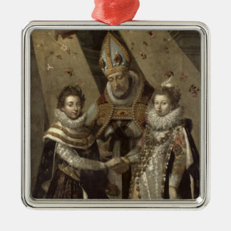 The Marriage of Louis XIII Christmas Ornament