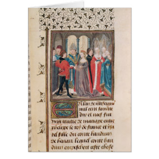 The Marriage of Philippe Auguste  King of France Card