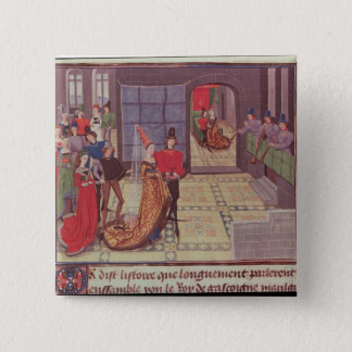 The Marriage of Renaud de Montauban and 15 Cm Square Badge