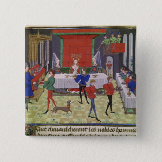 The Marriage of Renaud of Montauban and Clarisse 15 Cm Square Badge