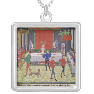 The Marriage of Renaud of Montauban and Clarisse Silver Plated Necklace
