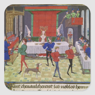 The Marriage of Renaud of Montauban and Clarisse Square Sticker