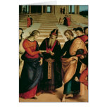 The Marriage of the Virgin, 1504 Greeting Card