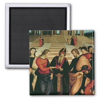 The Marriage of the Virgin, 1504 Square Magnet