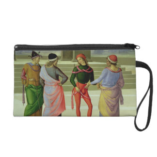 The Marriage of the Virgin, detail of four men in Wristlet Purse