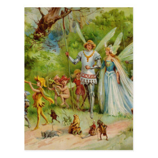The Marriage of Thumbelina Postcard